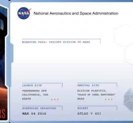 Tarjeta embarque para Marte